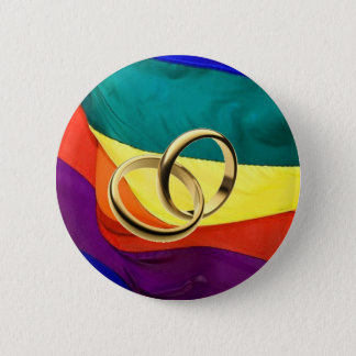 Pride and Marriage 6 Cm Round Badge