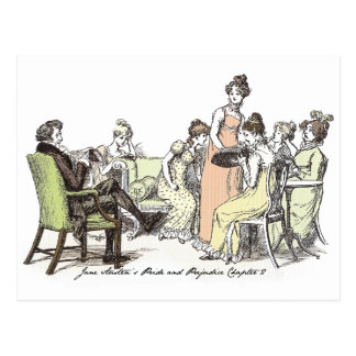 Pride and Prejudice - Bennet Family Postcard