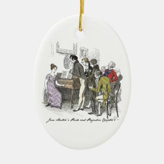 Pride and Prejudice chapter 6 Christmas Ornament