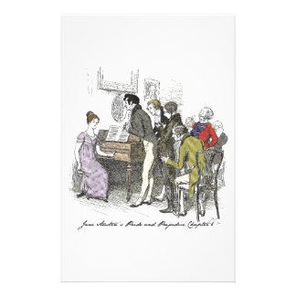Pride and Prejudice chapter 6 Stationery Design