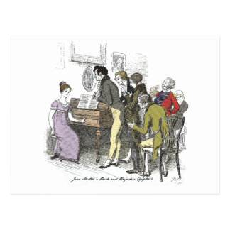 Pride and Prejudice - Elizabeth Bennet Performs Postcard