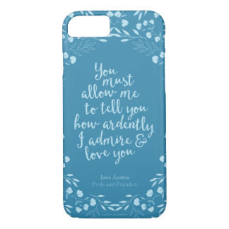 Pride and Prejudice Floral Love Quote iPhone 8/7 Case