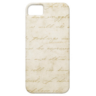 Pride and prejudice handwriting archival barely there iPhone 5 case