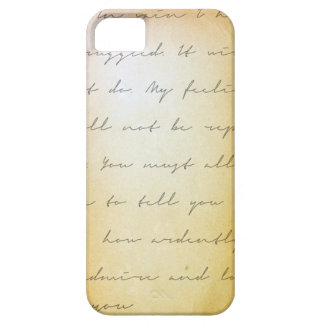 Pride and prejudice handwriting archival iPhone 5 case