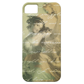 Pride and prejudice handwriting victorian barely there iPhone 5 case