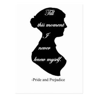 Pride and Prejudice I never knew myself Postcard