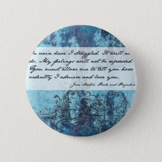Pride and Prejudice Quote 6 Cm Round Badge