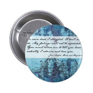 Pride and Prejudice Quote Pinback Buttons
