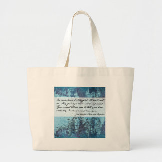 Pride and Prejudice Quote Canvas Bags