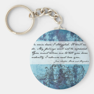 Pride and Prejudice Quote Key Ring