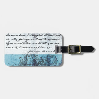 Pride and Prejudice Quote Luggage Tag