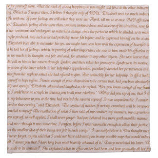Pride and Prejudice Quote Napkin