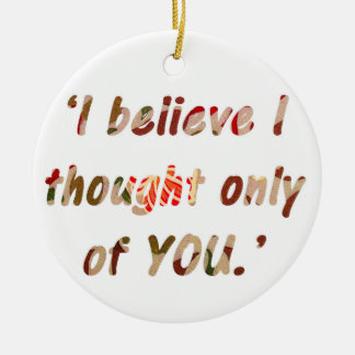 Pride and Prejudice Quote Round Ceramic Decoration