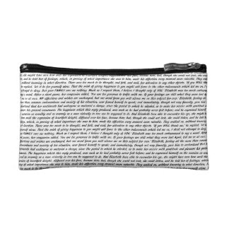 Pride and Prejudice Text Makeup Bag