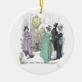 Pride and Prejudice - The Path Admitted Only Three Christmas Ornament