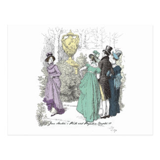 Pride and Prejudice - The Path Admitted Only Three Postcard