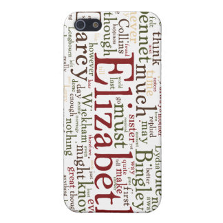Pride and Prejudice Word Cloud Cover For iPhone 5/5S