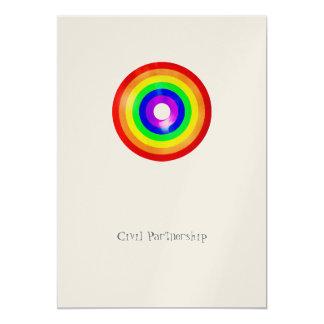 Pride - Civil Partnership Invitation 13 Cm X 18 Cm Invitation Card
