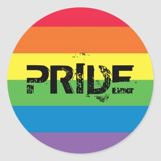 Pride! Classic Round Sticker