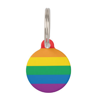 Pride | Colorful Rainbow Design Pet Tag