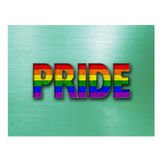 Pride Colors - Green Postcard