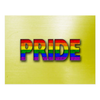 Pride Colors - Yellow Postcard
