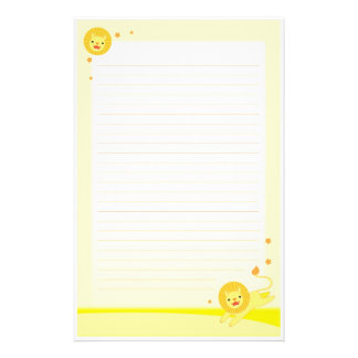 Pride cute lion stationary paper