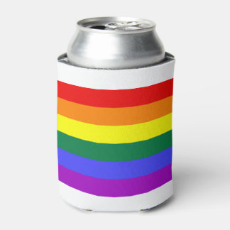 Pride flag rainbow beer can cooler