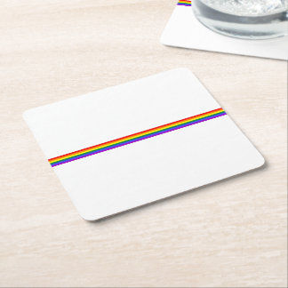Pride flag rainbow custom drink party coaster