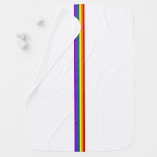 Pride flag rainbow custom Receiving Blanket