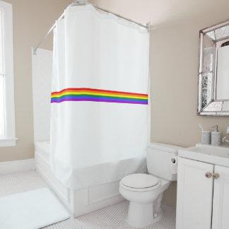Pride flag rainbow custom shower curtain
