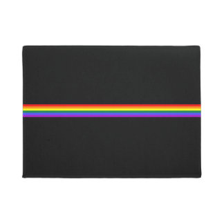 Pride flag rainbow custom welcome mat