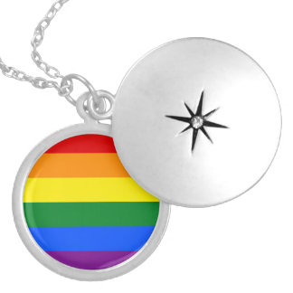 Pride Flag Silver Plated Necklace