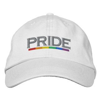 PRIDE Gay Pride Rainbow Flag Cool and Modern Embroidered Cap