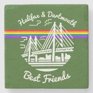 Pride Halifax Dartmouth best friend marble coaster