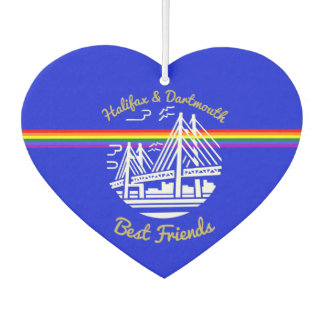 Pride Halifax Dartmouth best friends Air freshener