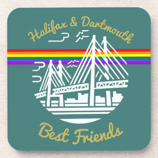 Pride Halifax Dartmouth best friends coaster set