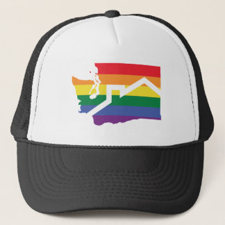 Pride Hat, Logo Only Trucker Hat