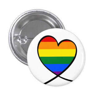 Pride Heart 3 Cm Round Badge