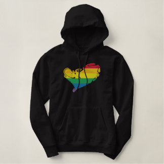 Pride HeART Embroidered Hoodie