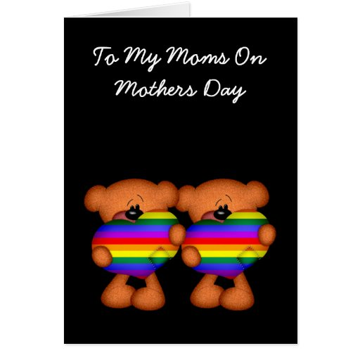 Pride Heart Teddy Bear Mothers Day Cards