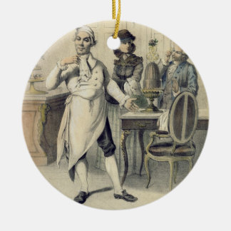 Pride in the Kitchen, from a series of prints depi Round Ceramic Decoration