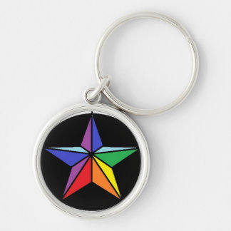 Pride Silver-Colored Round Key Ring
