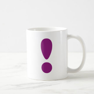 Pride Letter Exclamation Purple.png Basic White Mug