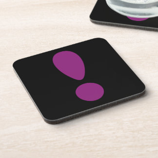 Pride Letter Exclamation Purple png Drink Coaster