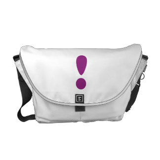 Pride Letter Exclamation Purple.png Messenger Bag