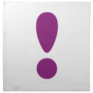 Pride Letter Exclamation Purple.png Cloth Napkin