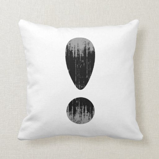 PRIDE LETTER EXCLAMATION VINTAGE.png Pillows