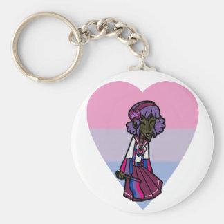 Pride Magical Girl - Bisexual Key Ring