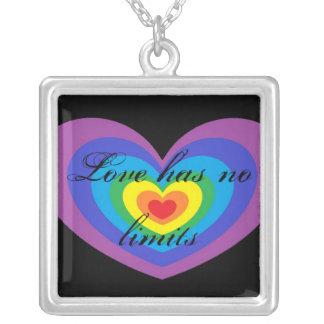 Pride Square Pendant Necklace